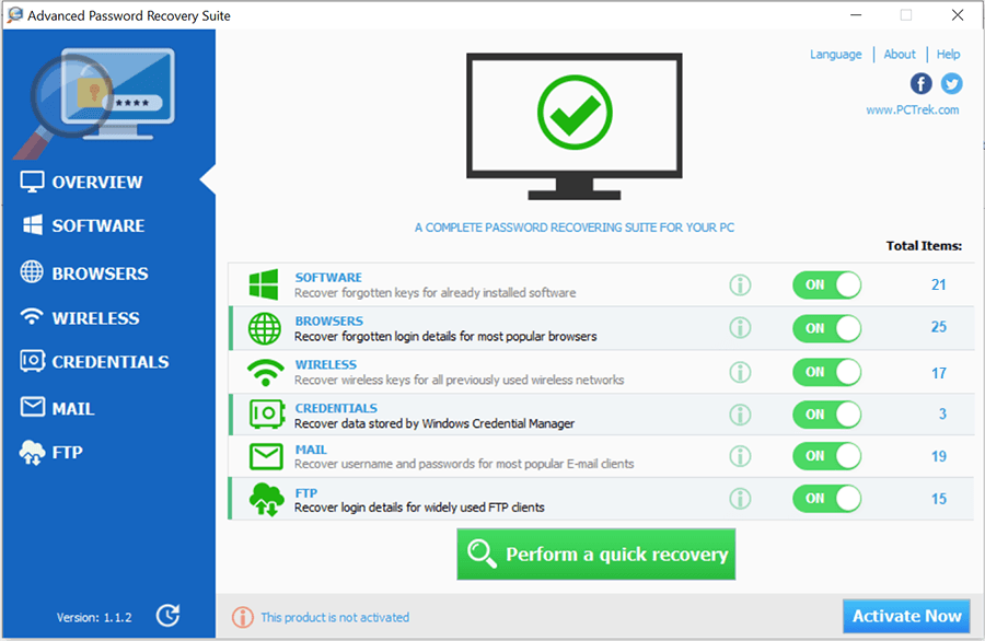 Advanced Password Recovery Suite Screenshot